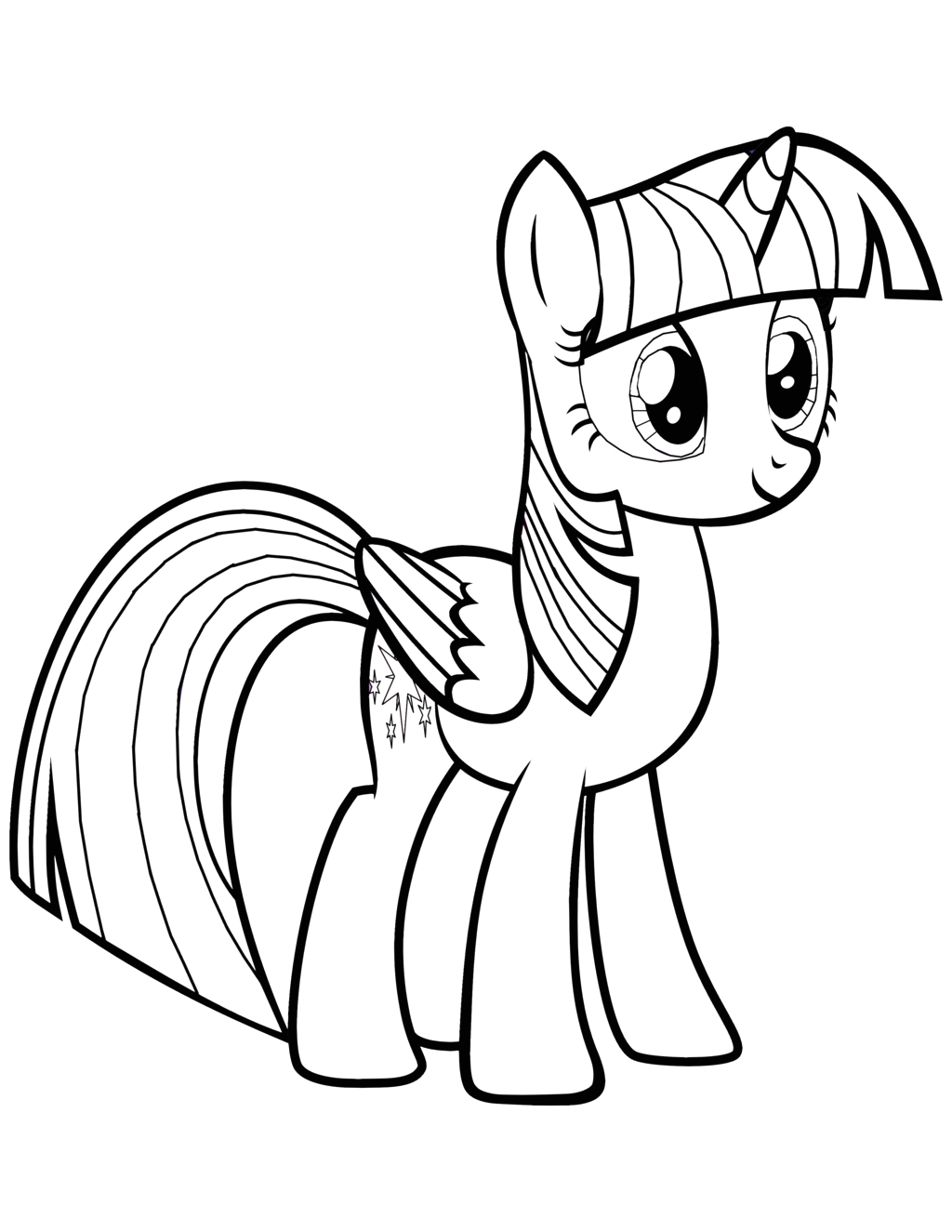 My Little Pony Coloring Pages Princess Twilight Sparkle Alicorn Twilight Sparkle Alicorn Coloring Pages at Getcolorings