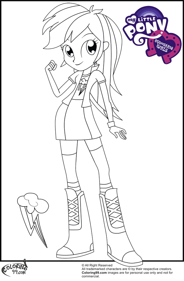My Little Pony Coloring Pages Rainbow Dash Equestria Girls Fans Request Rainbow Dash Equestria Girl Coloring Pages