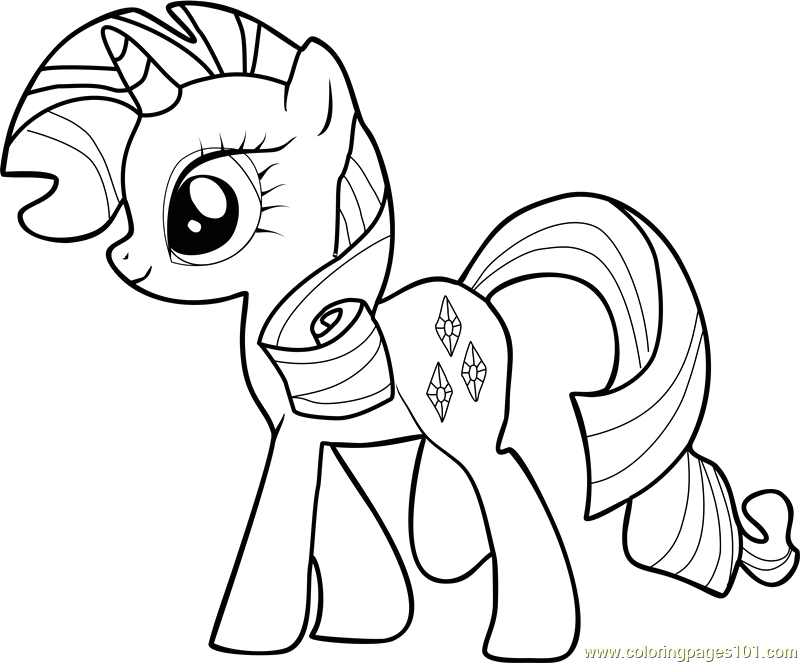 My Little Pony Friendship is Magic Coloring Pages Rarity Rarity Coloring Page Free My Little Pony Friendship is