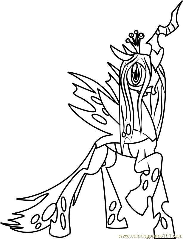 My Little Pony Queen Chrysalis Coloring Pages Queen Chrysalis Coloring Page Free My Little Pony