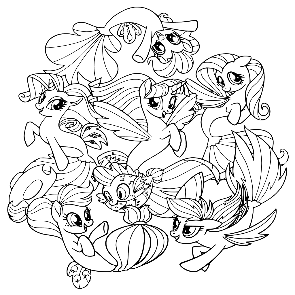 My Little Pony Sea Ponies Coloring Pages My Little Pony the Movie Coloring Pages to and