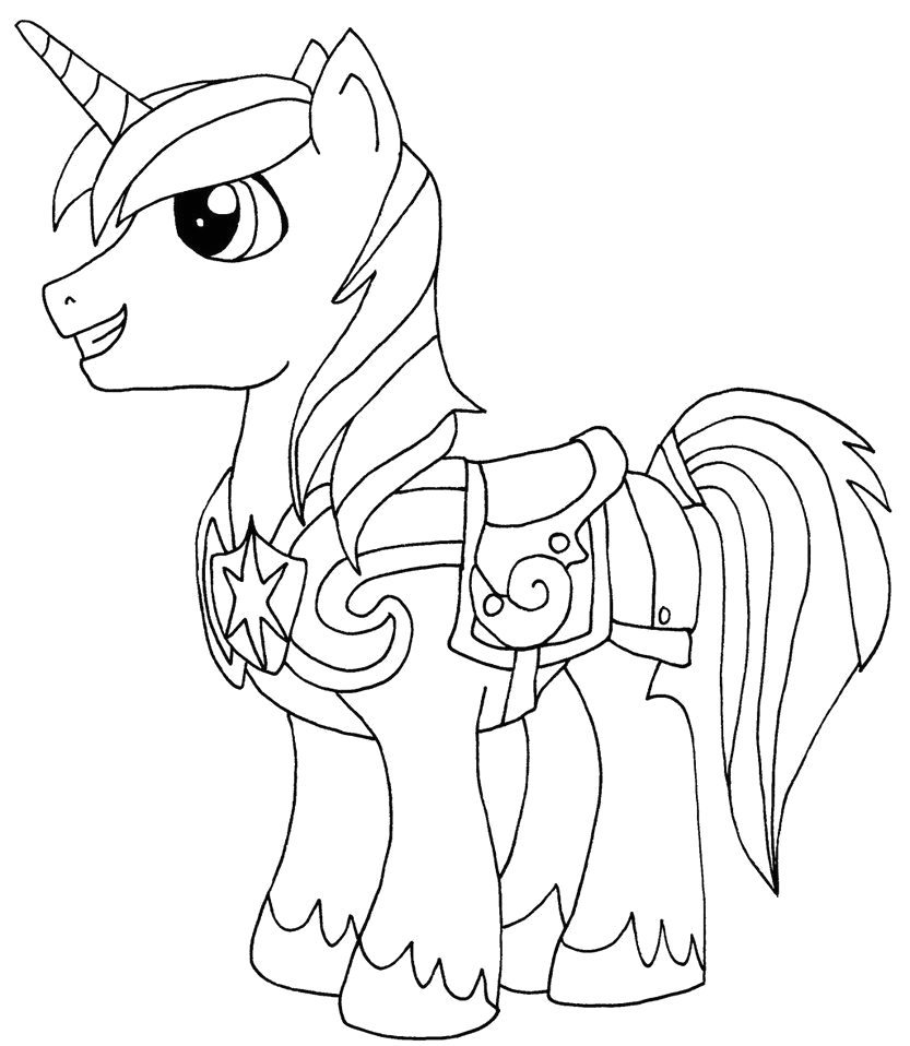 My Little Pony Shining Armor Coloring Pages My Little Pony Shining Armor Coloring Pages