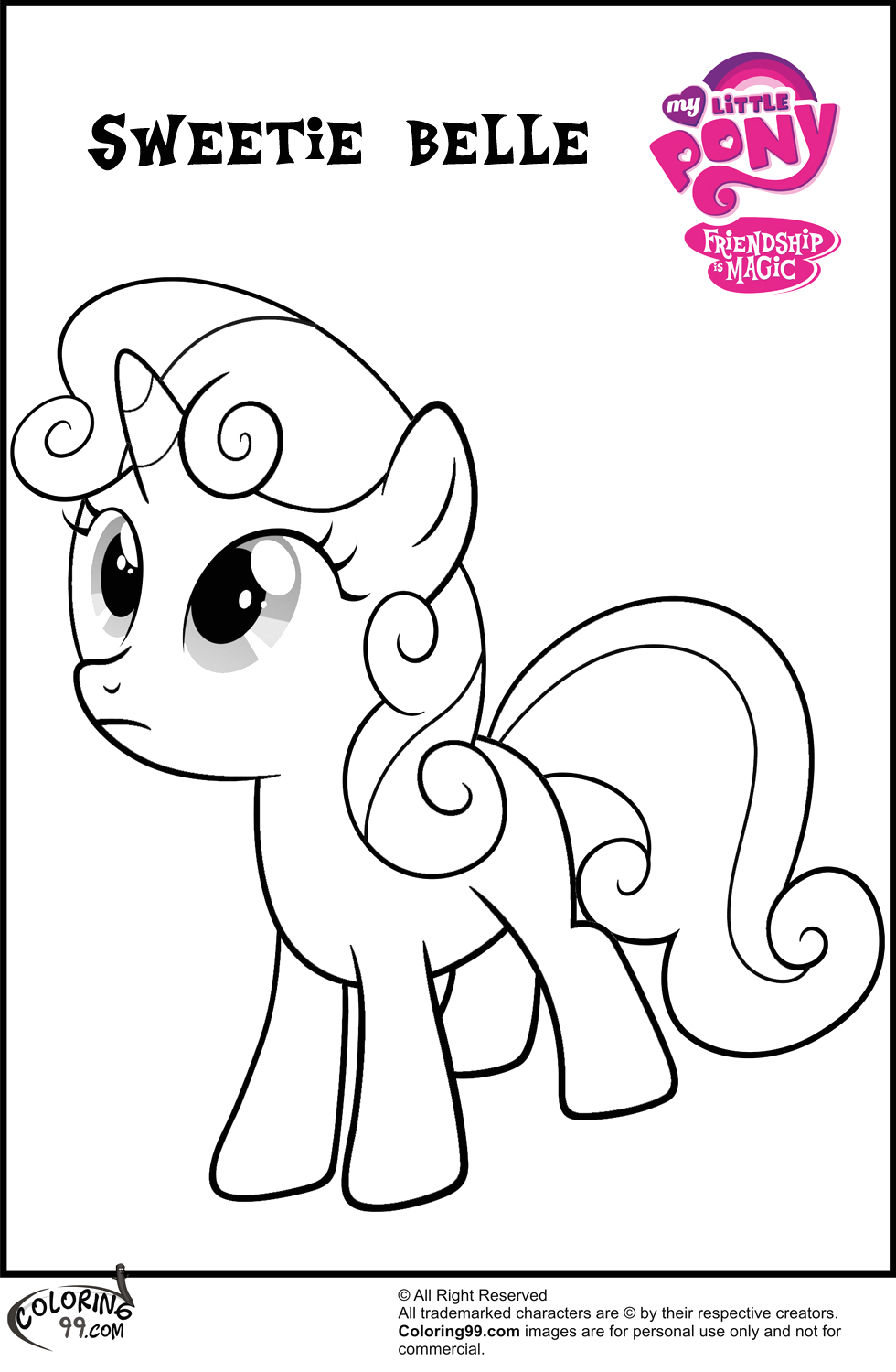 mlp sweetie belle coloring pages