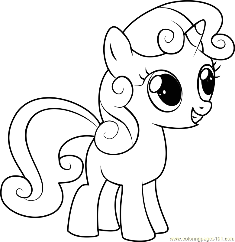 My Little Pony Sweetie Belle Coloring Pages Sweetie Belle Coloring Page Free My Little Pony