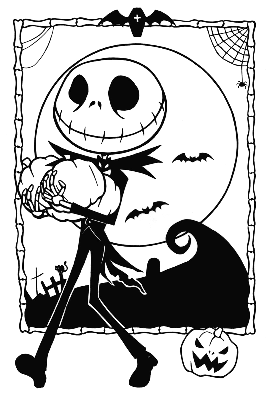 free printable nightmare christmas coloring pages