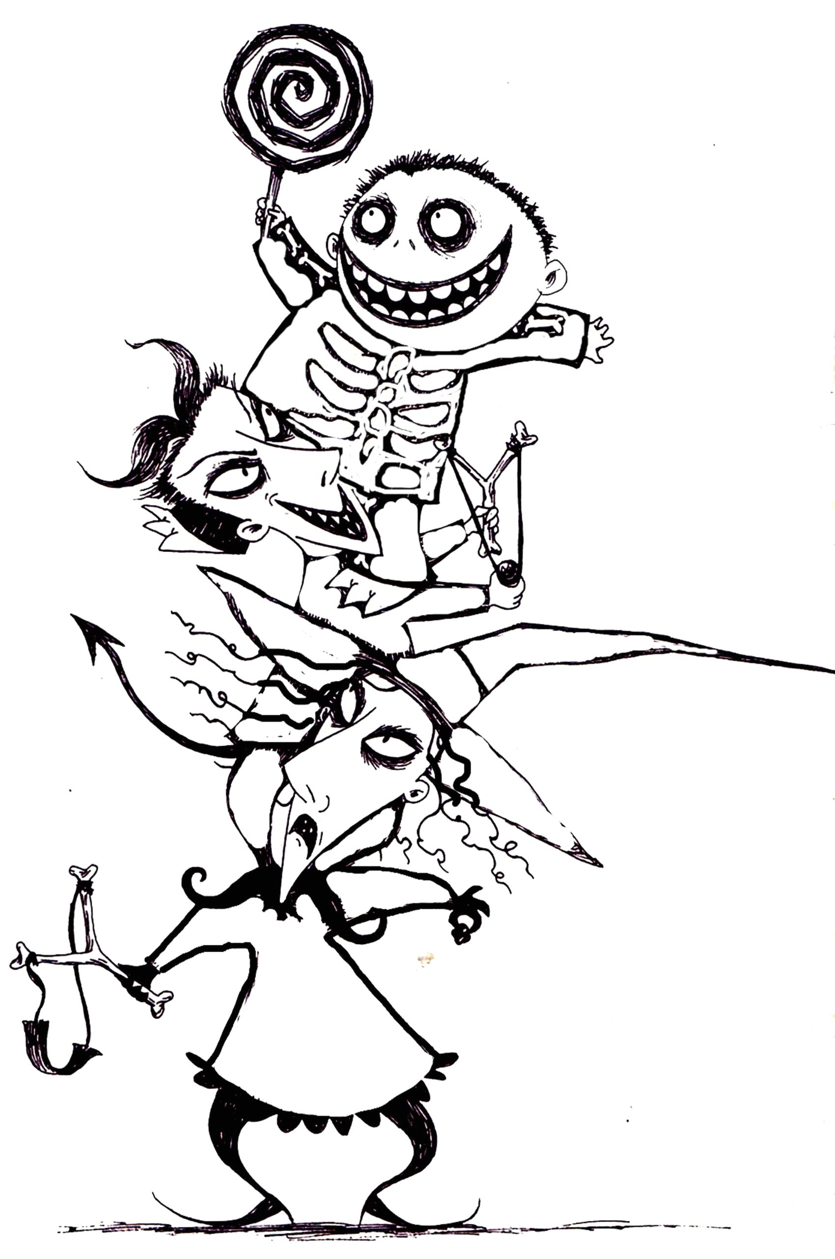 Nightmare before Christmas Coloring Pages for Kids Free Printable Nightmare before Christmas Coloring Pages