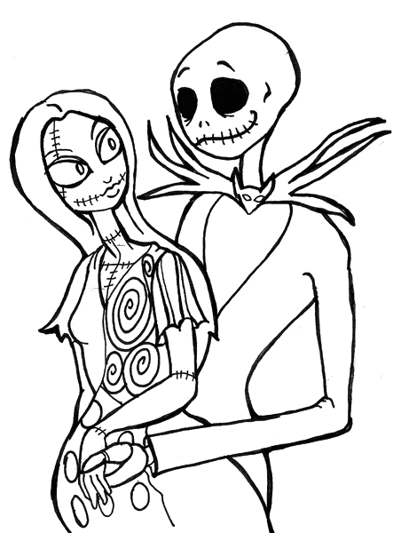 the nightmare before christmas coloring pages