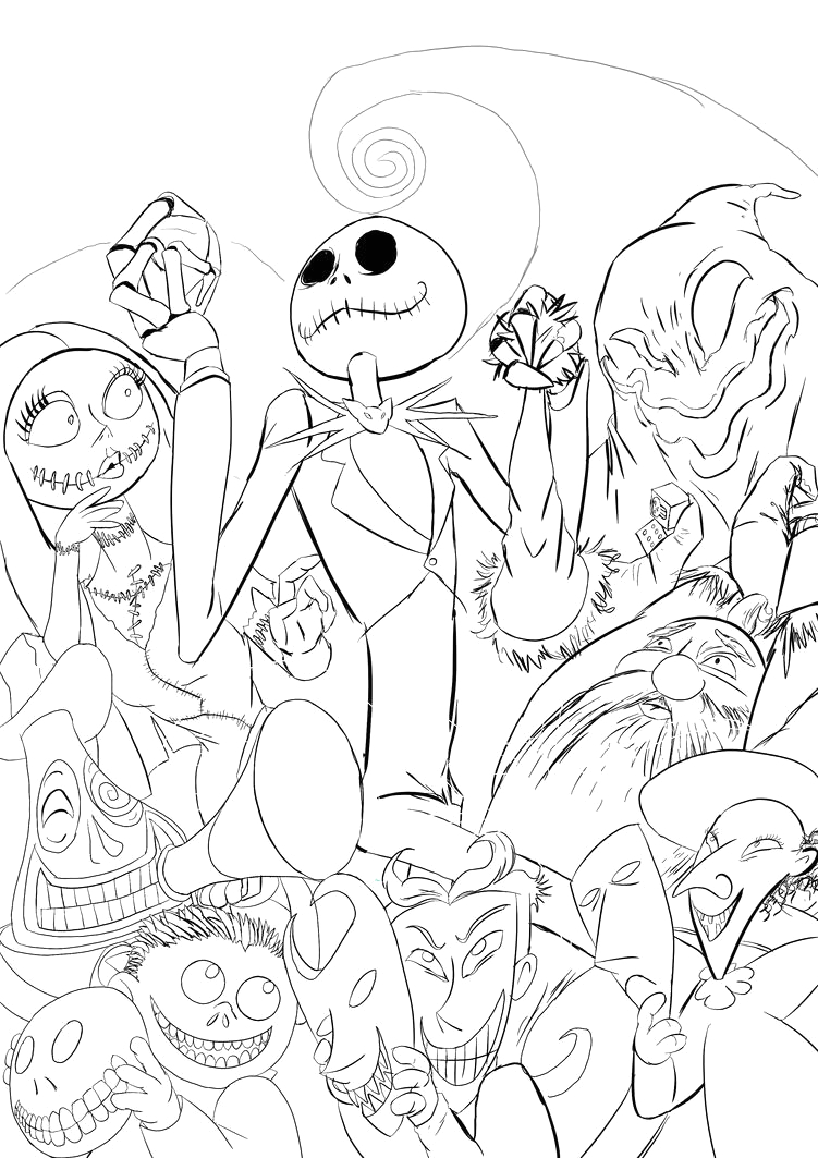 oogie boogie pages sketch templates