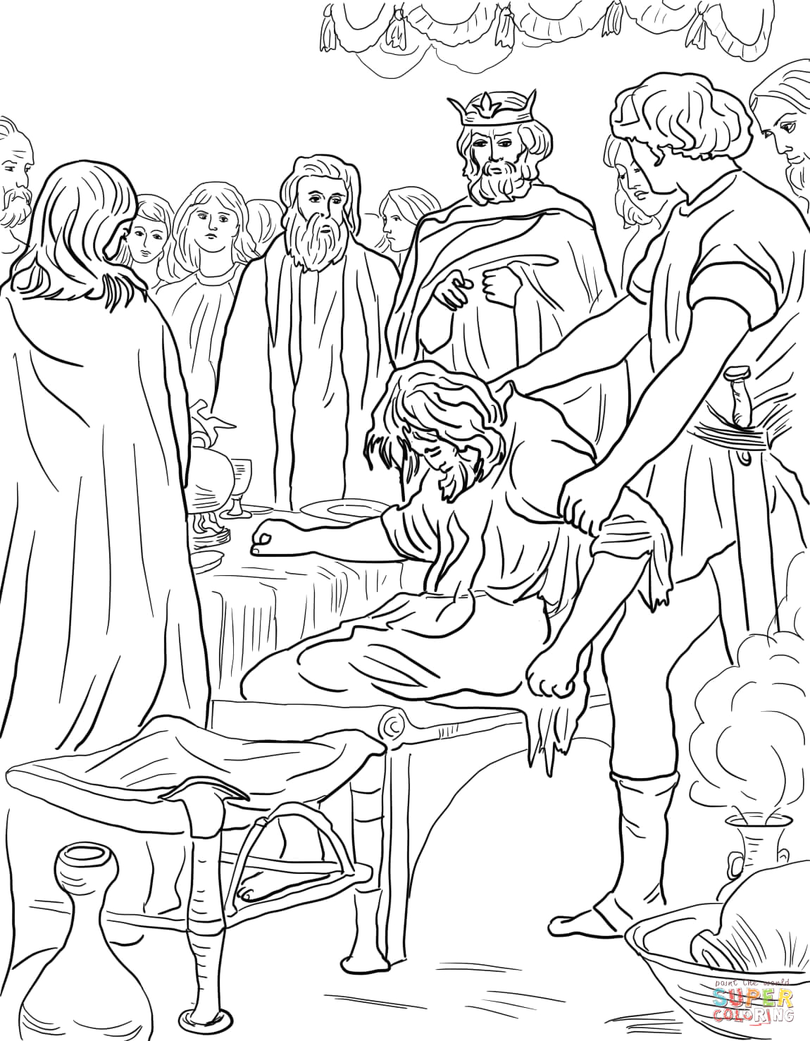 Parable Of the Wedding Feast Coloring Page Parable Of the Wedding Feast Coloring Page
