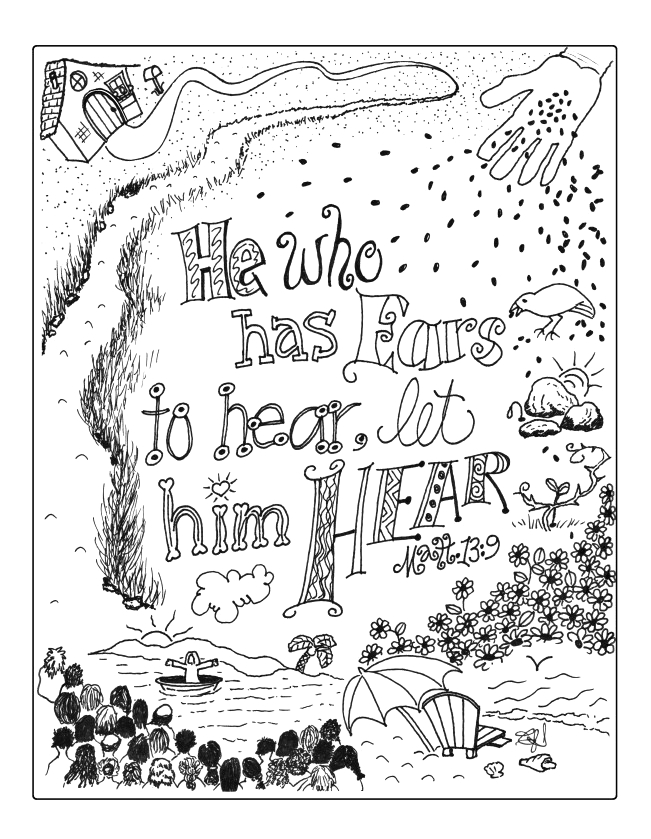 fresh wheat and tares coloring page