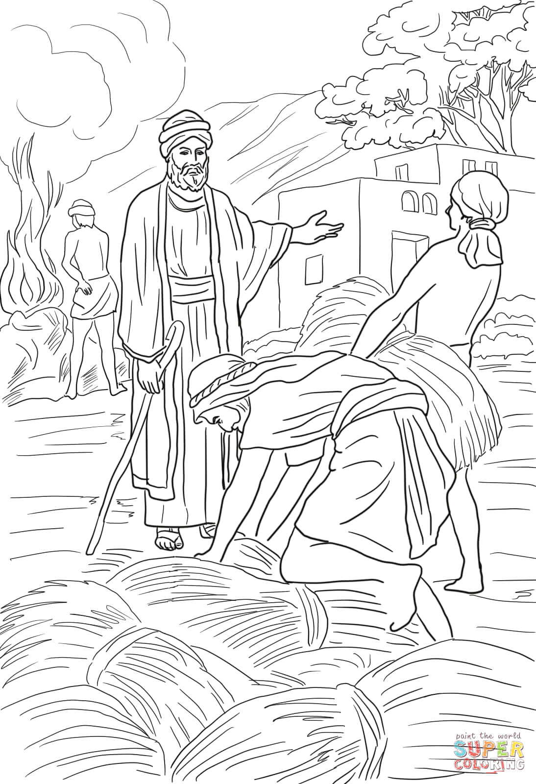 Parable Of the Wheat and Weeds Coloring Page Parable Of the Wheat and Weeds Coloring Page