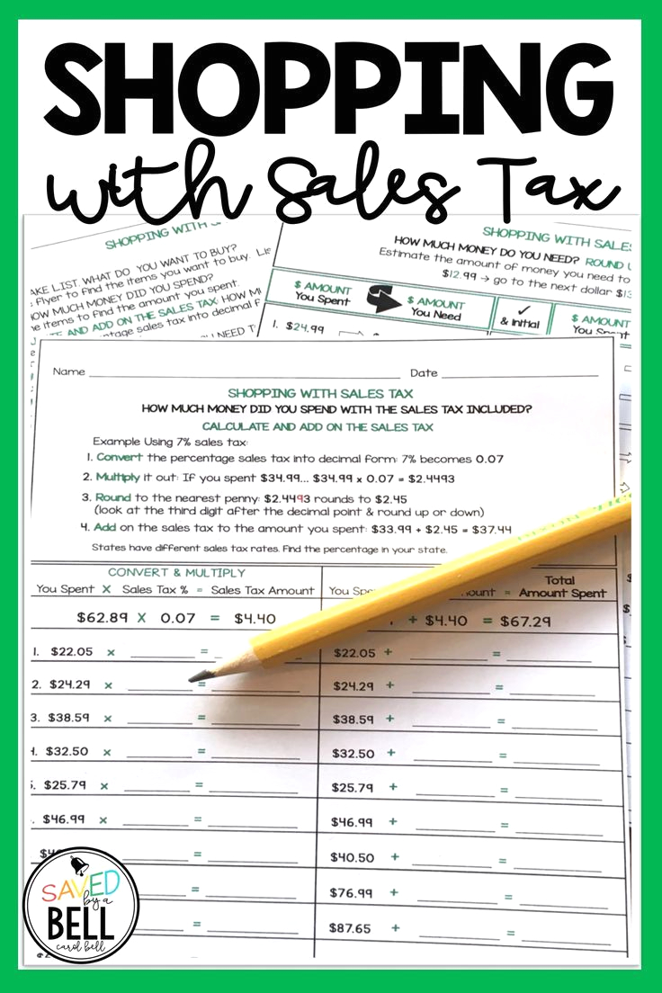 how to calculate sales tax in math