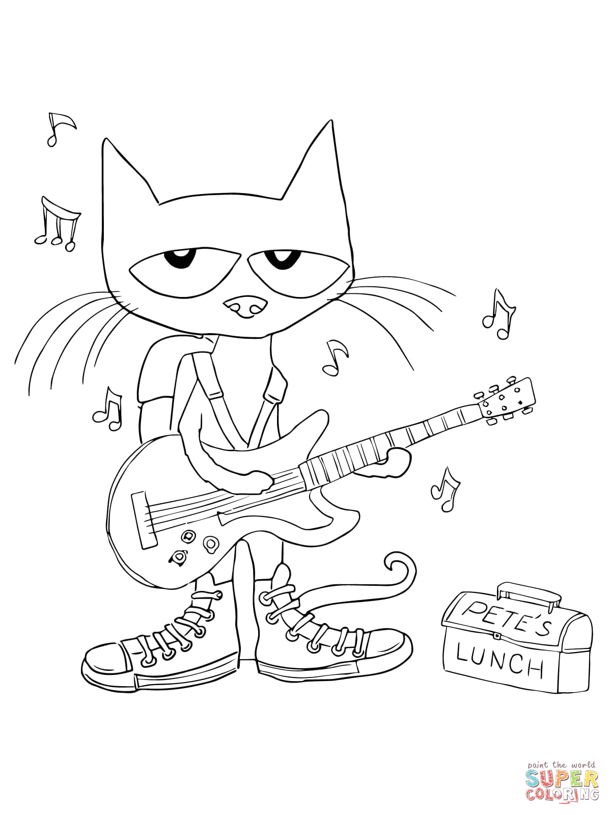 Pete the Cat Rocking In My School Shoes Coloring Page Pete the Cat Rockin In My Schol Shoes Quotes Quotesgram