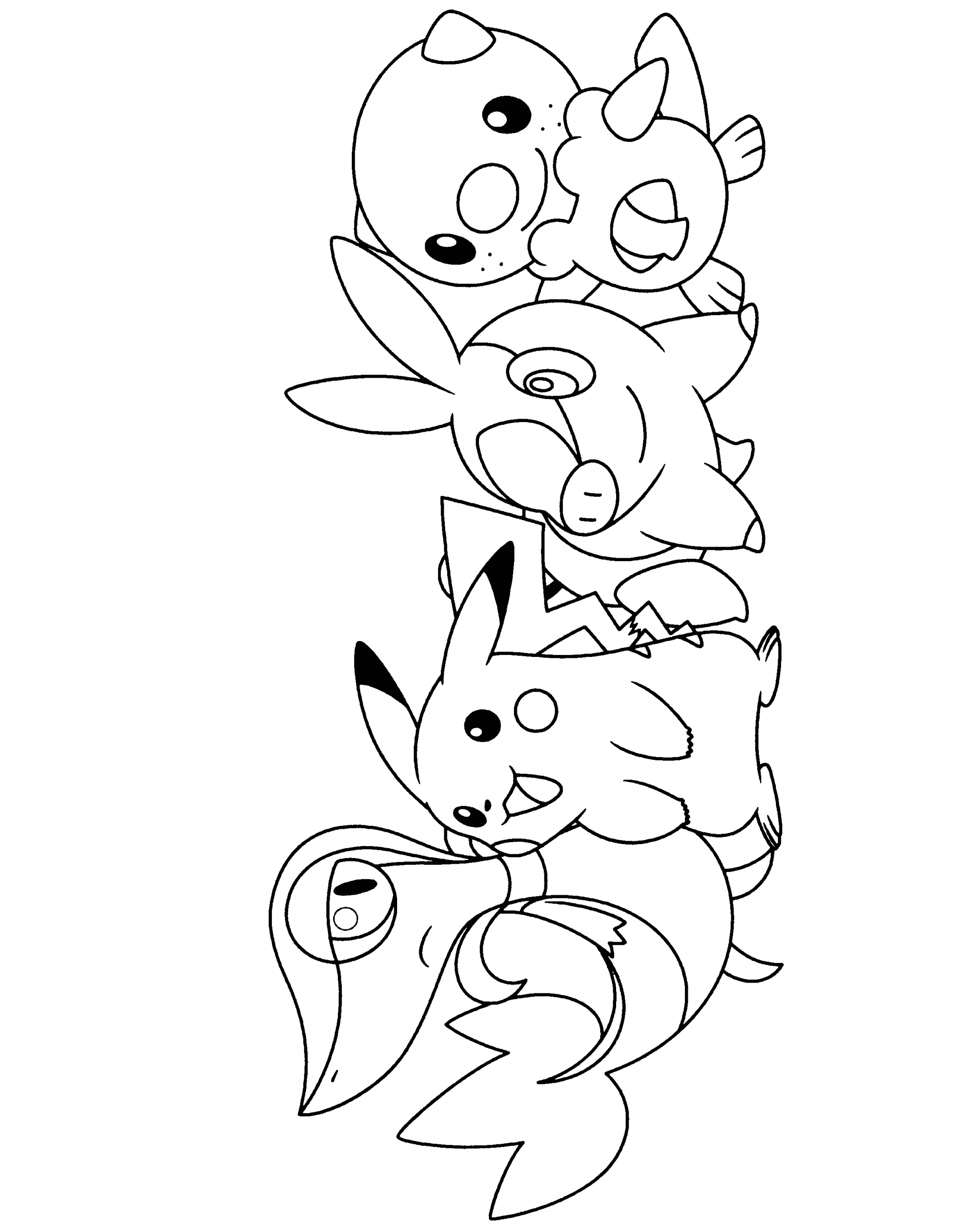 Pokemon Black and White Coloring Pages to Print Pokemon Black and White Printable Coloring Pages