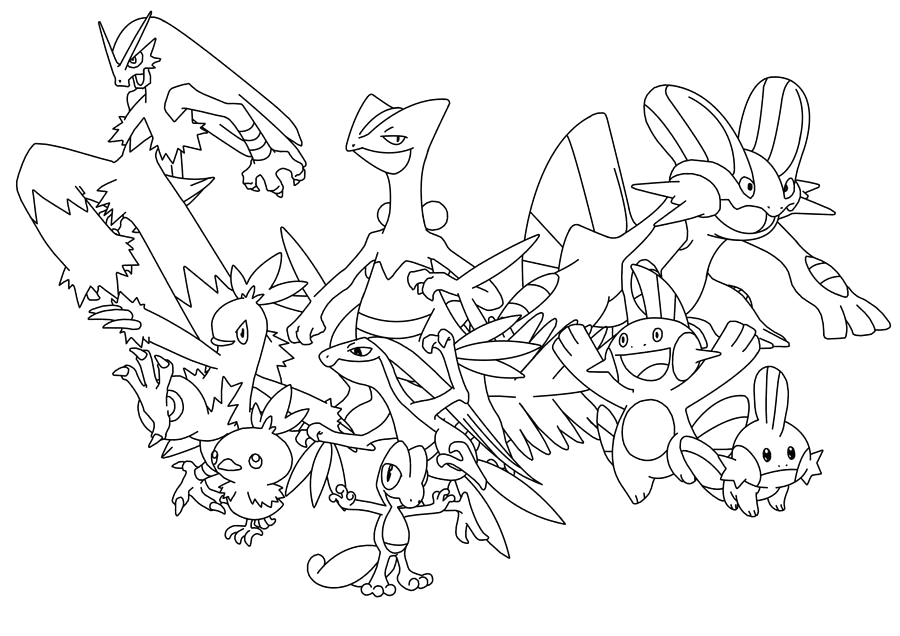 pokemon starters sun and moon coloring sketch templates