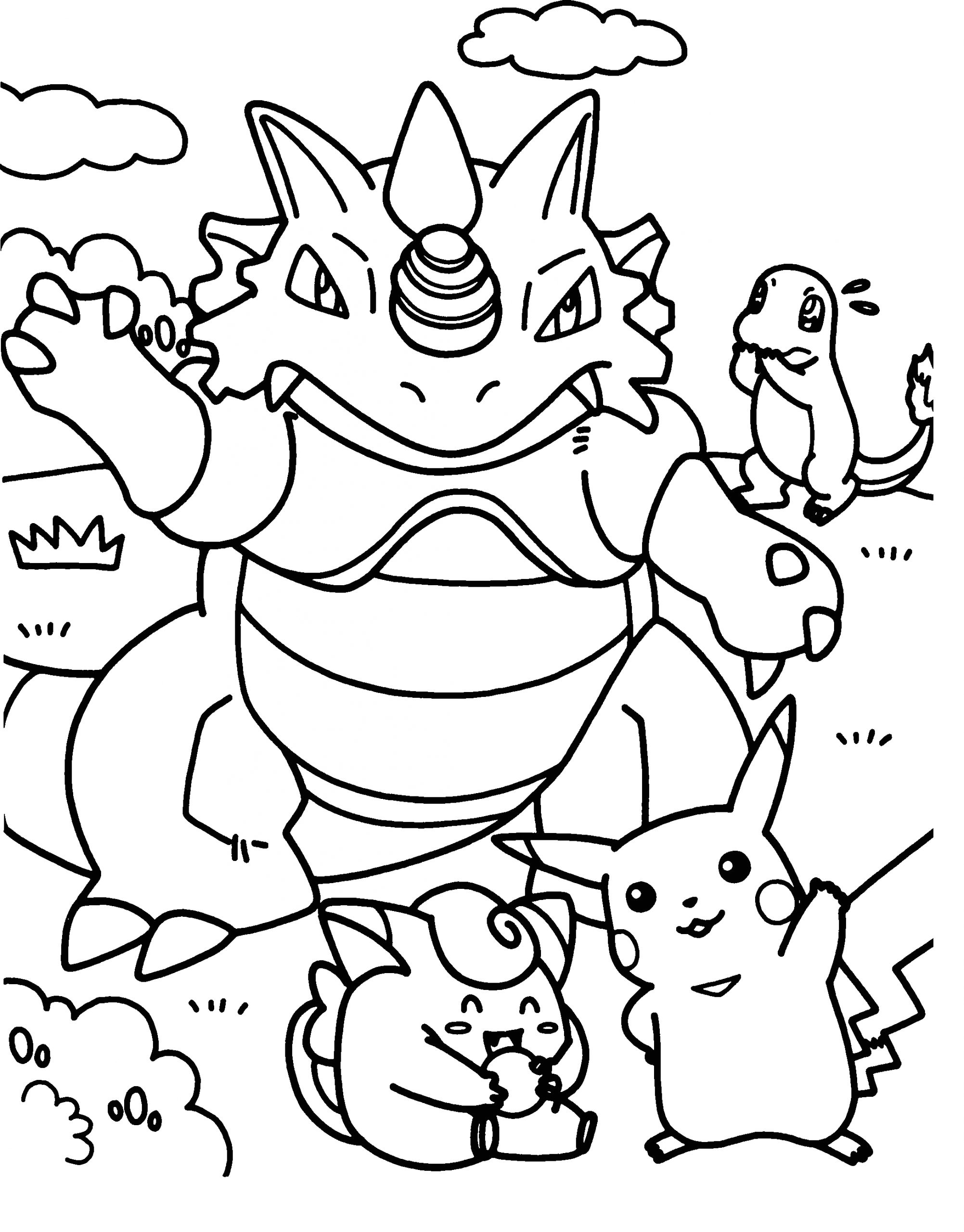 pokemon coloring pages for kids printable