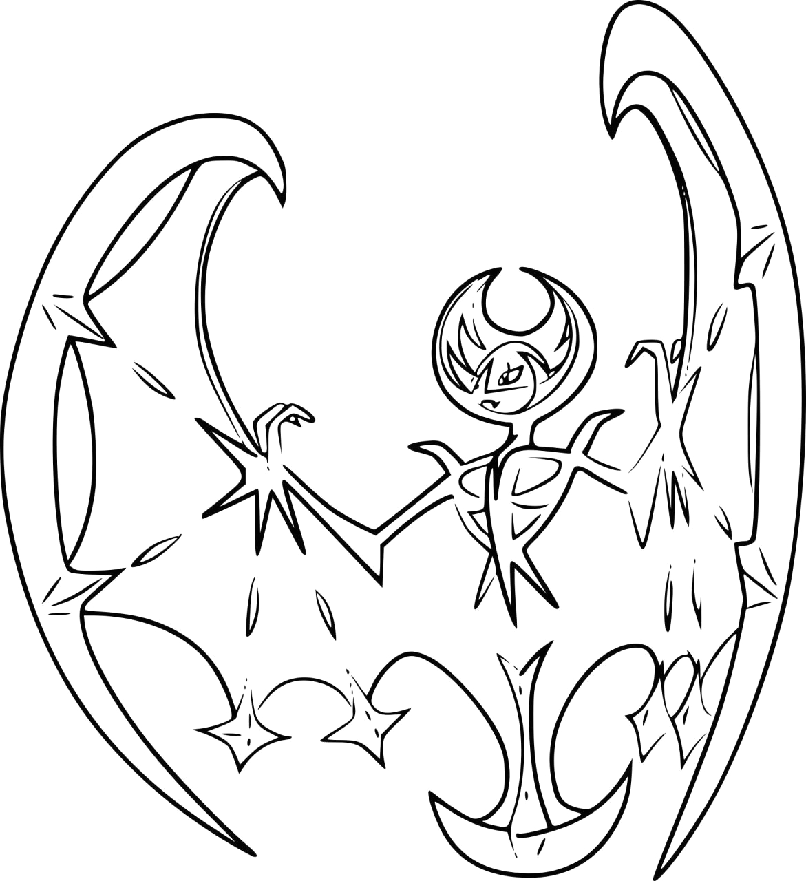 Pokemon Sun and Moon Coloring Pages Legendaries Legendary Mega Sun and Moon Pokemon Coloring Pages