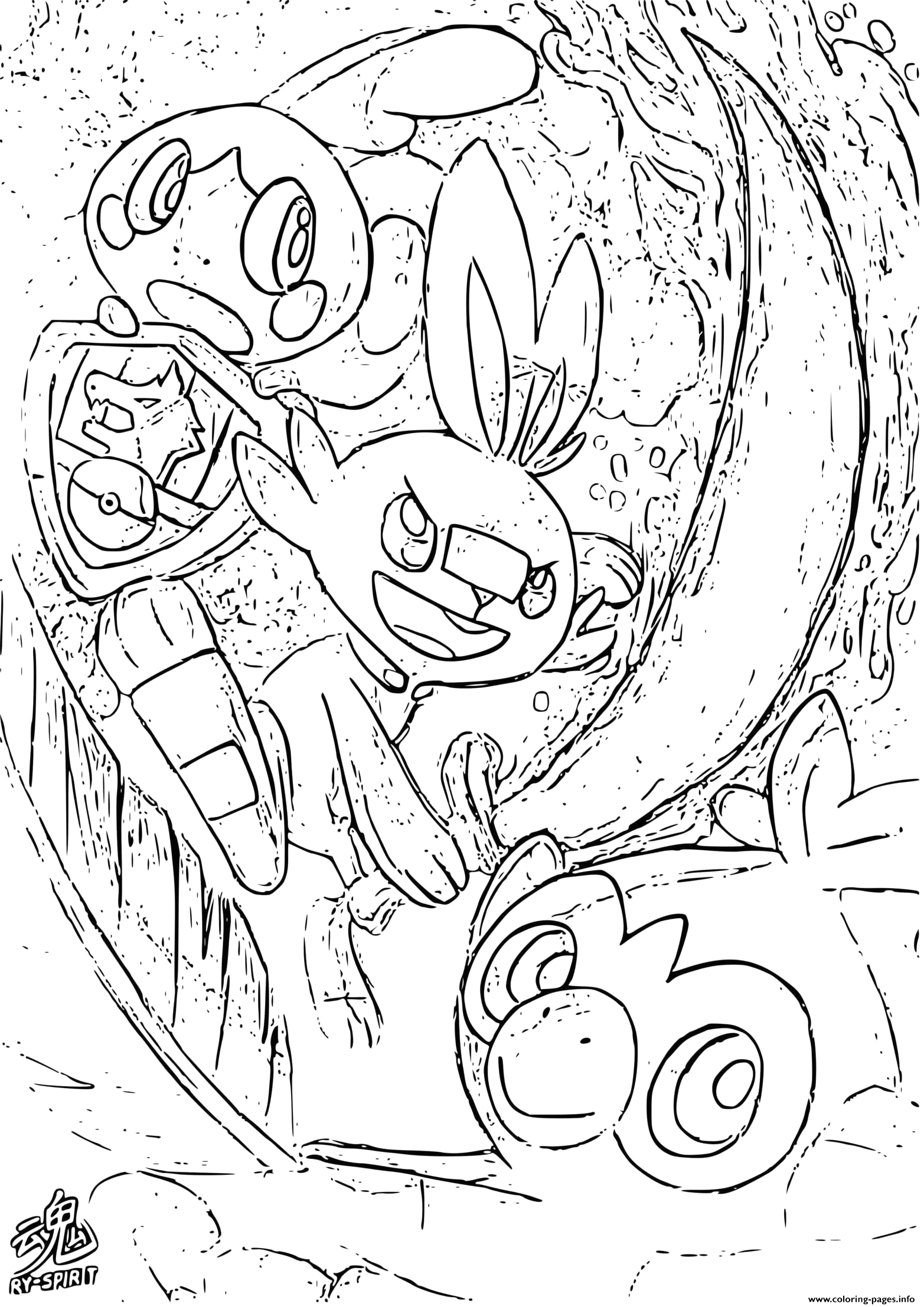 pokemon sword and shield by ryspirit printable coloring pages book