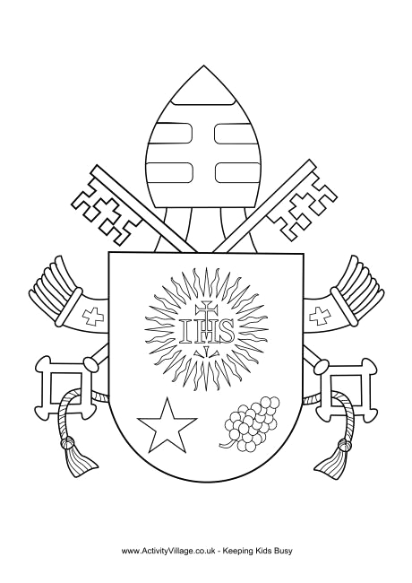 Pope Francis Coat Of Arms Coloring Page Pope Francis Coat Of Arms Colouring