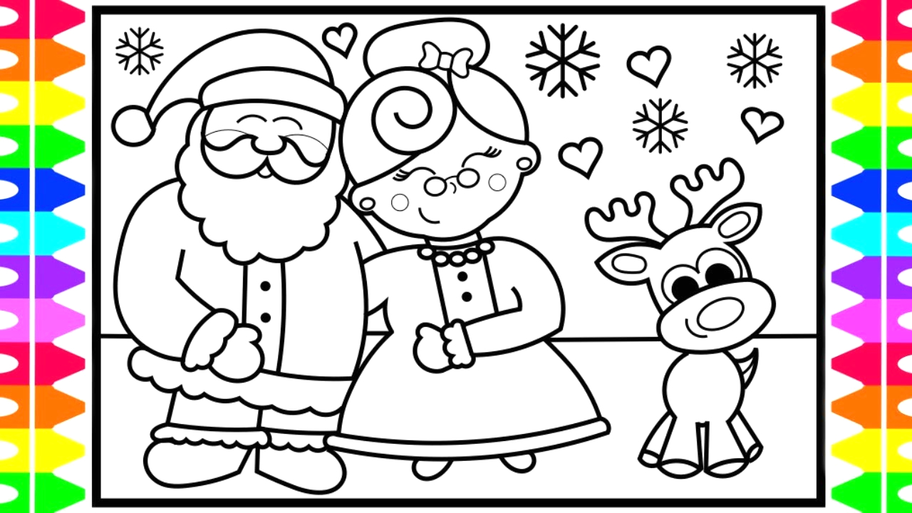 Santa Claus and Mrs Claus Coloring Pages How to Draw Santa Claus and Mrs Claus Step by Step for