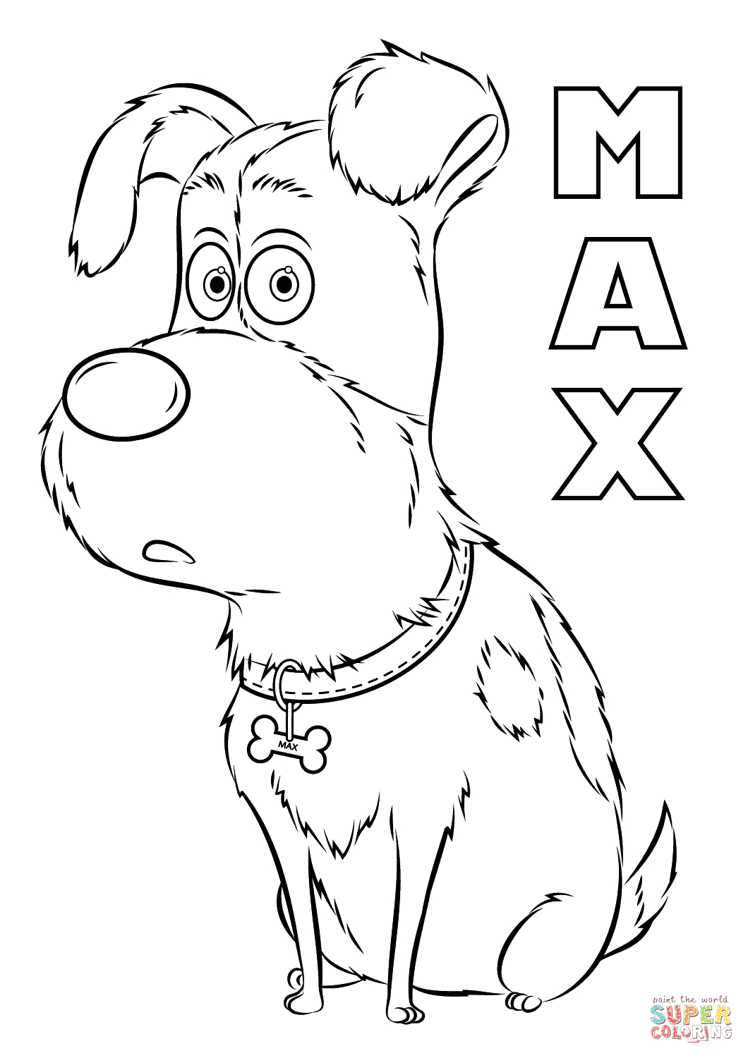 Secret Life Of Pets Coloring Pages to Print Max From the Secret Life Of Pets Coloring Page