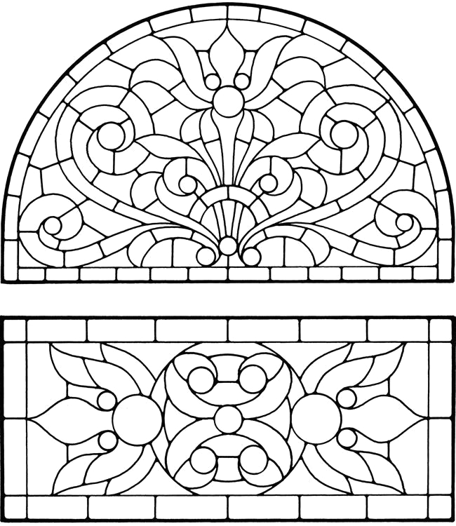 stained glass coloring pages ideas