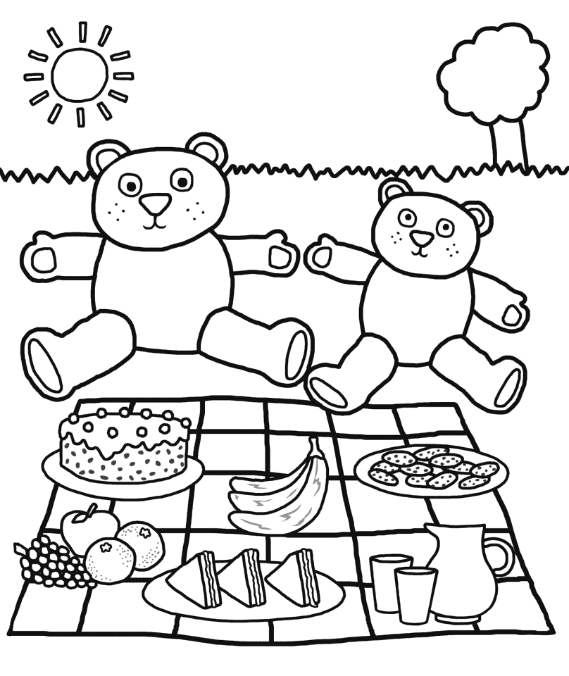 Teddy Bear Picnic Coloring Pages Free Printable Get This Teddy Bear Picnic Coloring Pages Auyr2