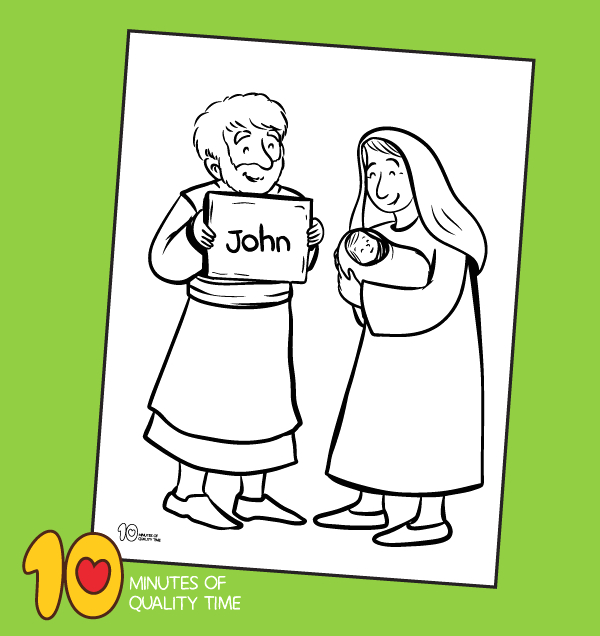 the birth of john the baptist coloring page