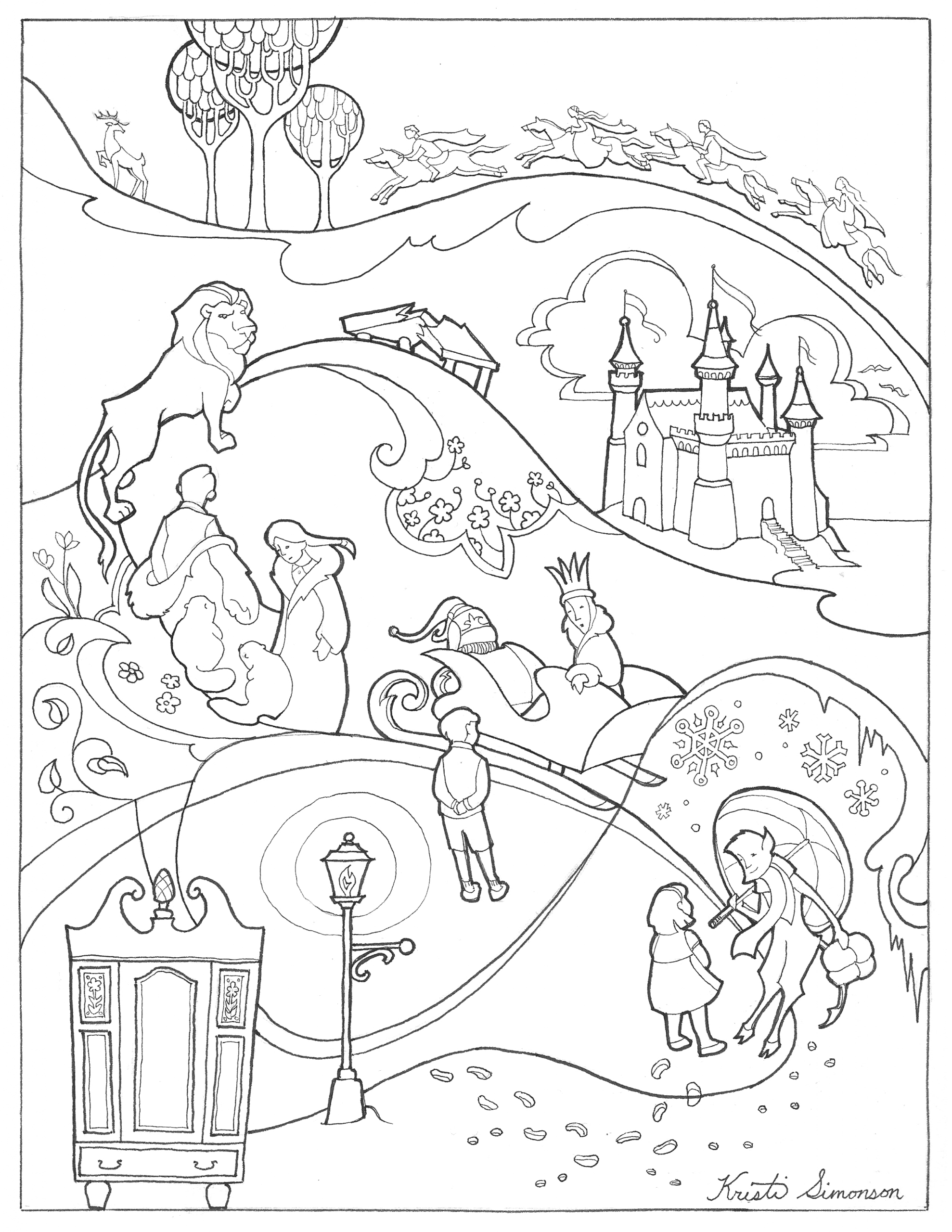 """The Lion the Witch and the Wardrobe Coloring Pages Coloring Sheet From """"the Lion the Witch and the Wardrobe"""