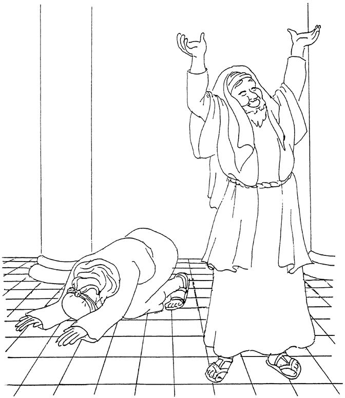 The Pharisee and the Tax Collector Coloring Page Short Animation Parable Of the Pharisee and the Tax