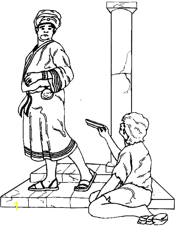 rich man and lazarus coloring page