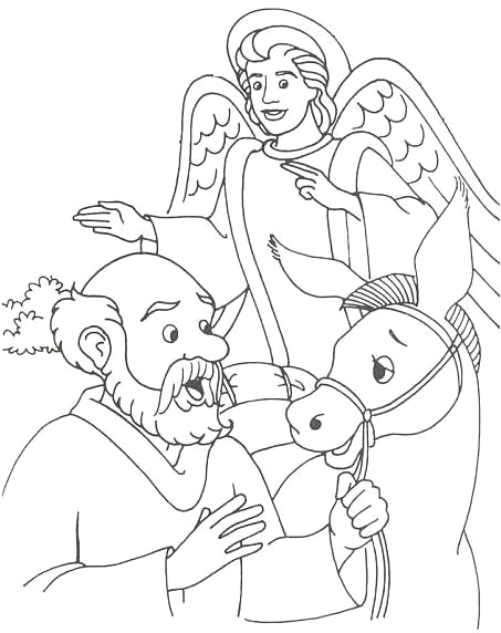 The Talking Donkey Bible Story Coloring Page Balaam and the Talking Donkey Coloring Pages Google