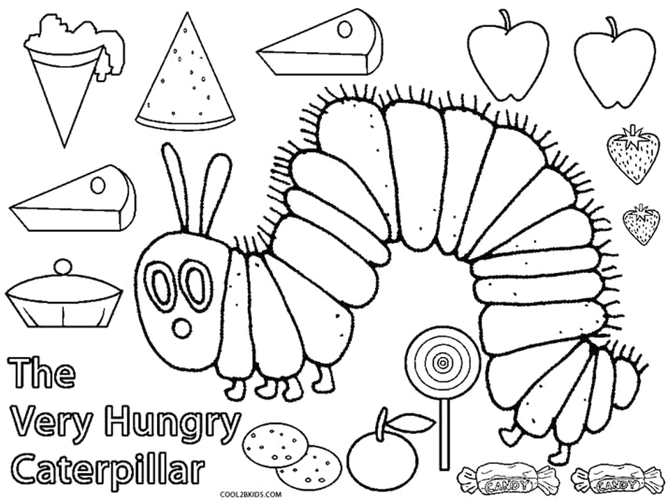 The Very Hungry Caterpillar Food Coloring Pages 20 Free Printable the Very Hungry Caterpillar Coloring