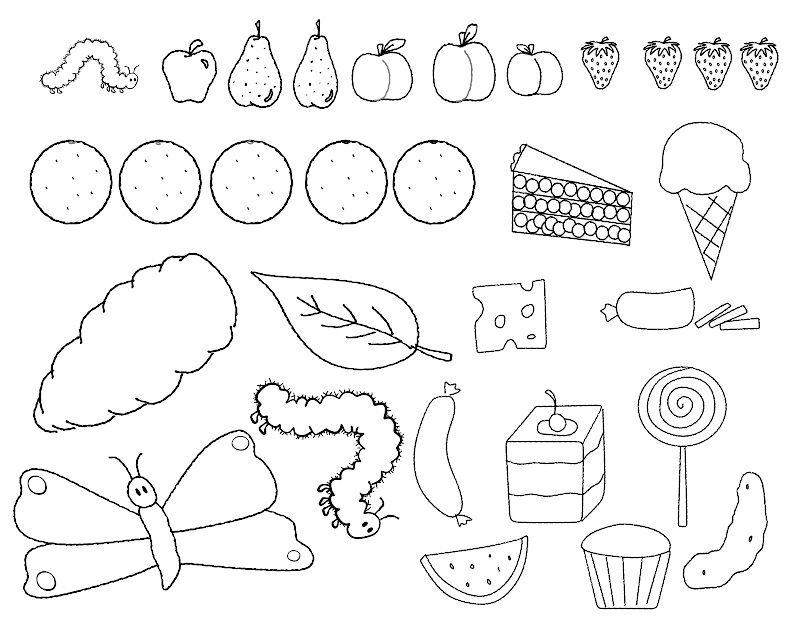 coloring pages for very hungry