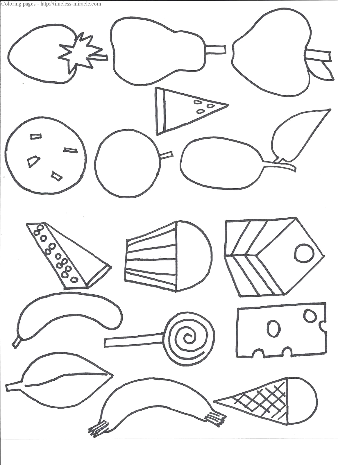 the very hungry caterpillar coloring page