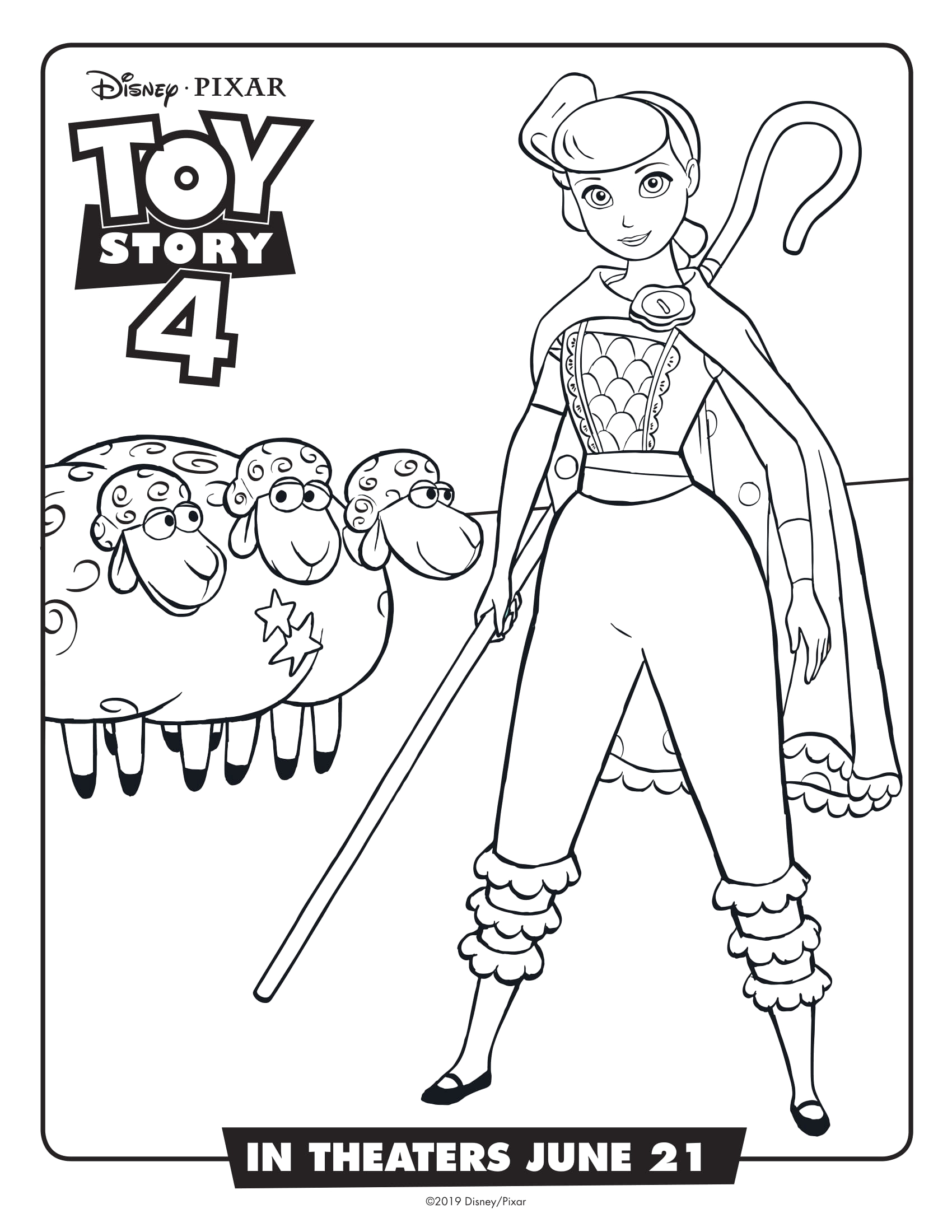 Toy Story 4 Bo Peep Coloring Pages toy Story 4 Coloring Pages Best Coloring Pages for Kids