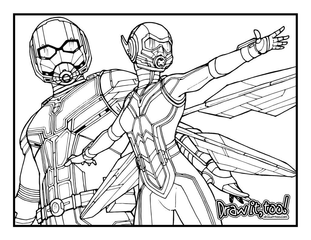 Ant Man and the Wasp Coloring Pages Ant Man and the Wasp Movie Review Doodlechat