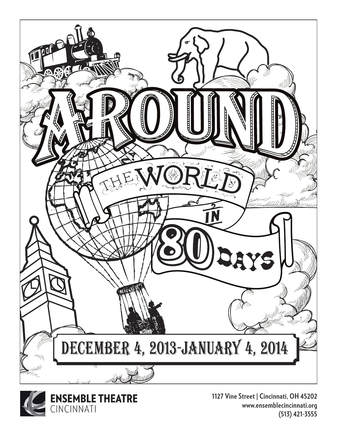 Around the World In 80 Days Coloring Pages Around the World In 80 Days Coloring Page by Ensemble