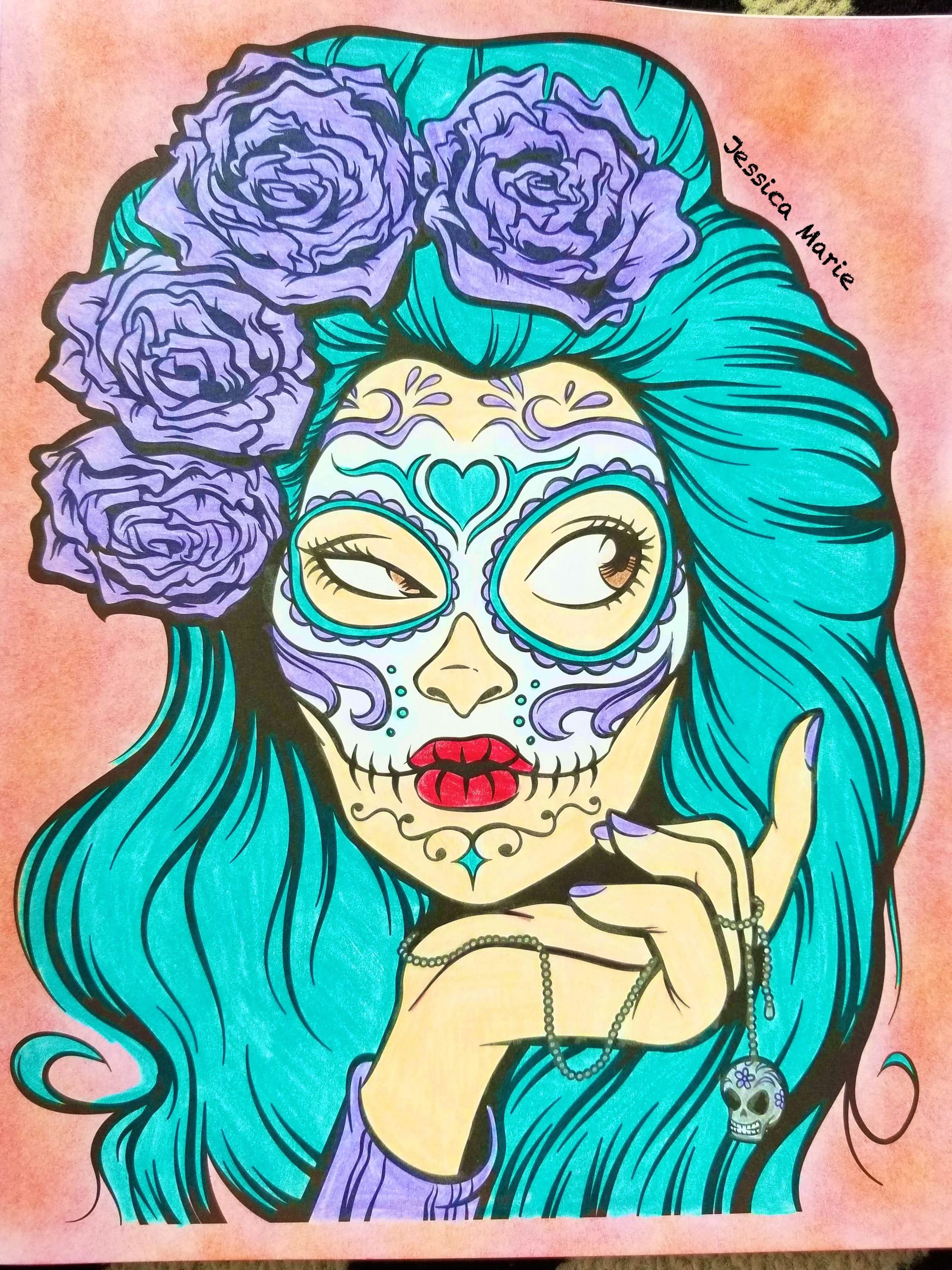 Art with Edge Sugar Skulls Pages Colored Crayola Art with Edge Sugar Skulls Dayofthedead 💀