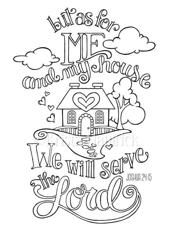 As for Me and My House Coloring Page as for Me and My House Coloring Page In Two Sizes 8 5×11