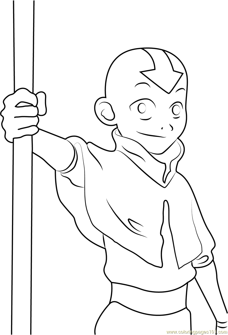 Avatar the Last Airbender Coloring Pages Printable Cute Aang Coloring Page Free Avatar the Last Airbender