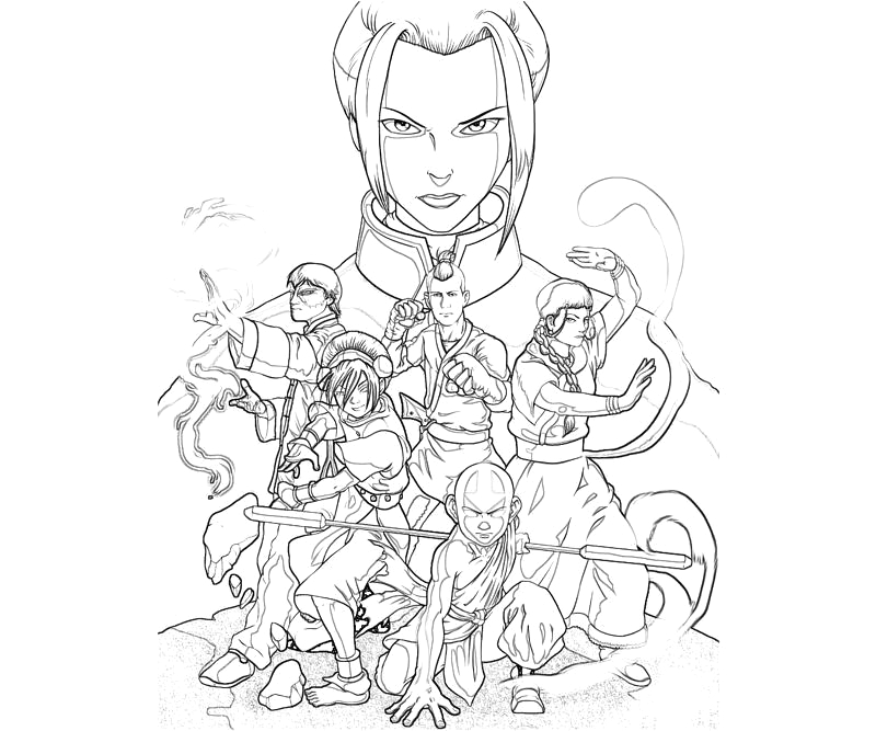 Avatar the Last Airbender Zuko Coloring Pages Avatar Zuko Character