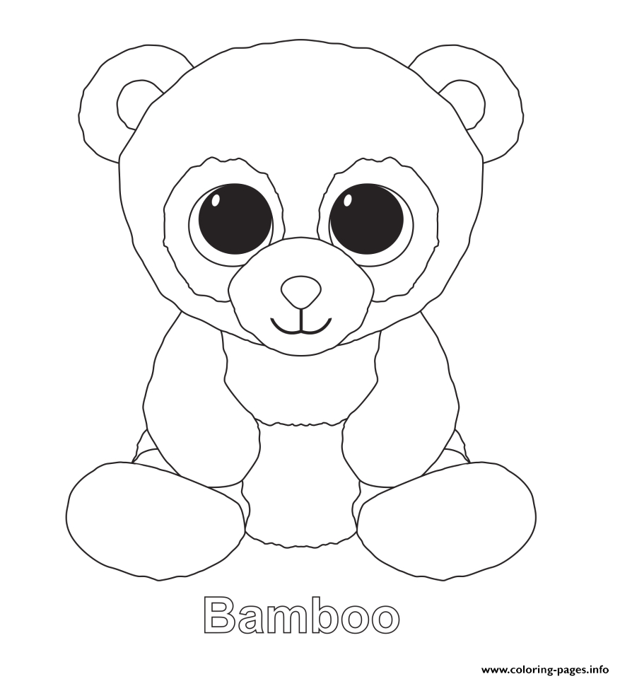 bamboo beanie boo printable coloring pages book
