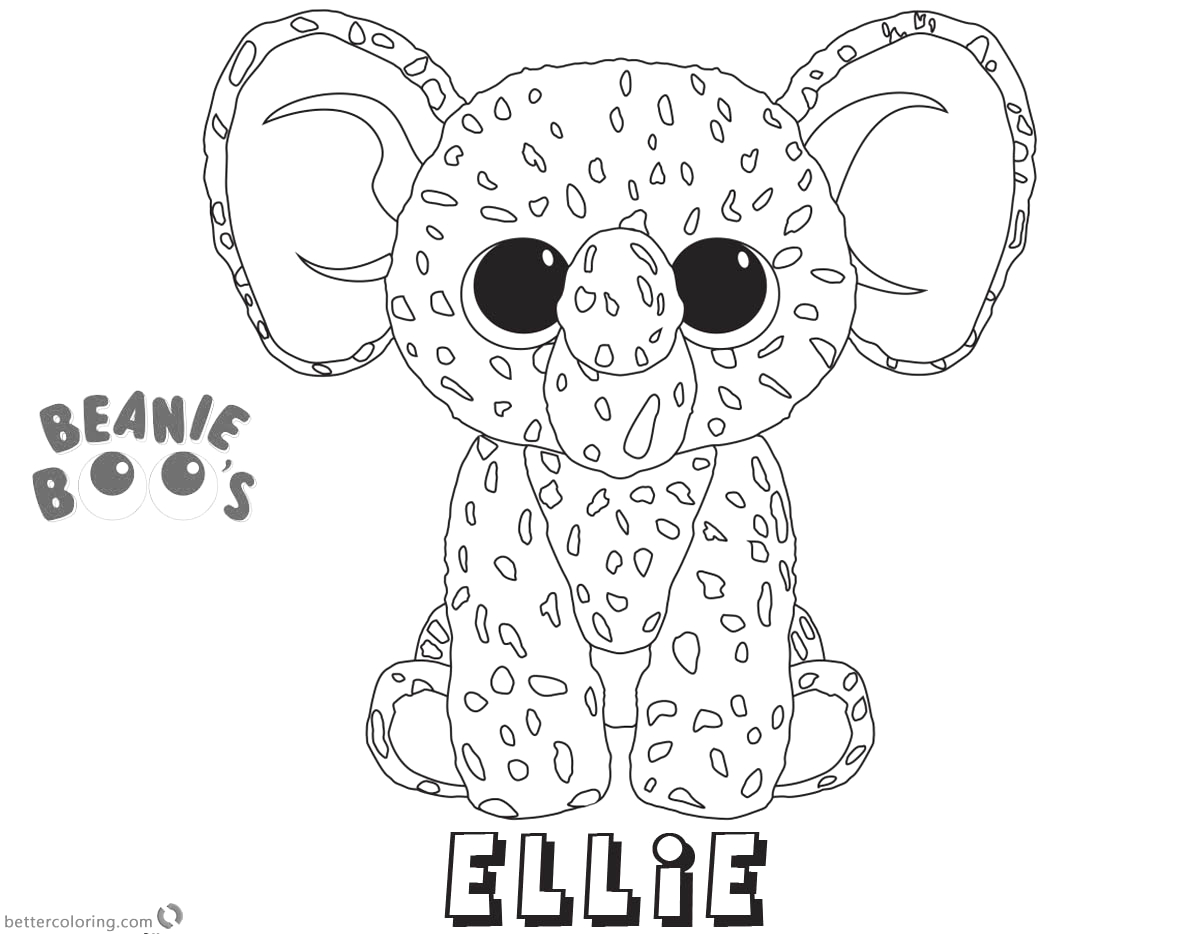 beanie boo coloring pages ellie
