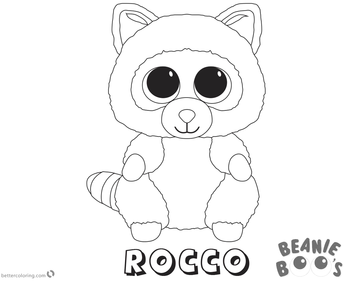 beanie boo coloring pages rocco
