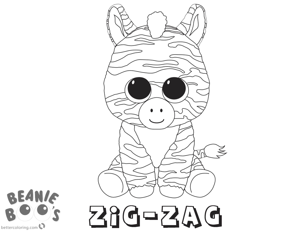 beanie boo coloring pages zig zag