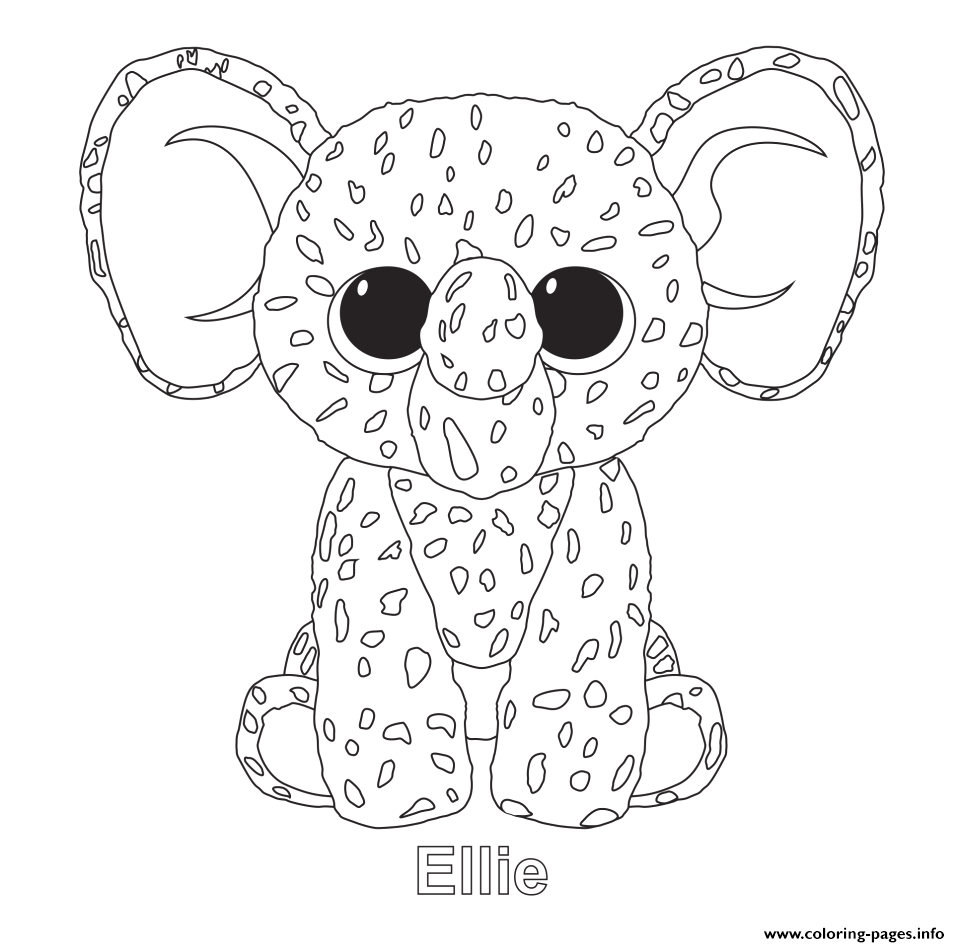 ellie beanie boo printable coloring pages book