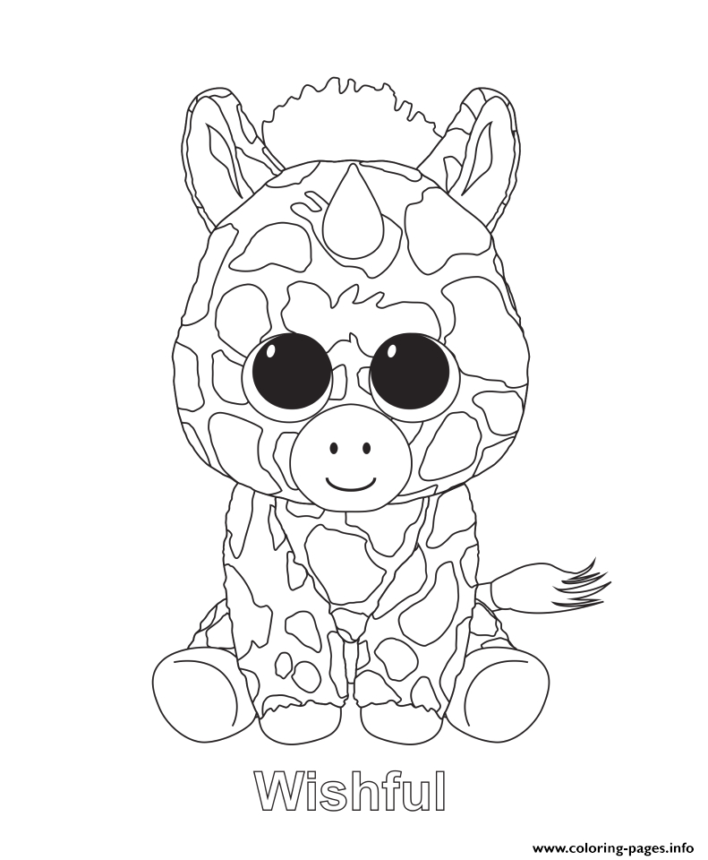 wishful beanie boo printable coloring pages book
