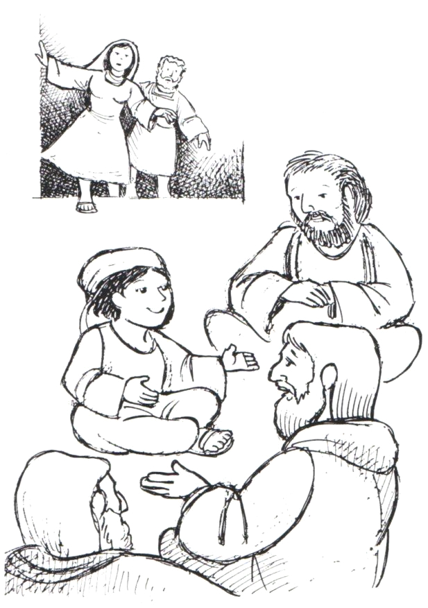 boy jesus in temple coloring page 11