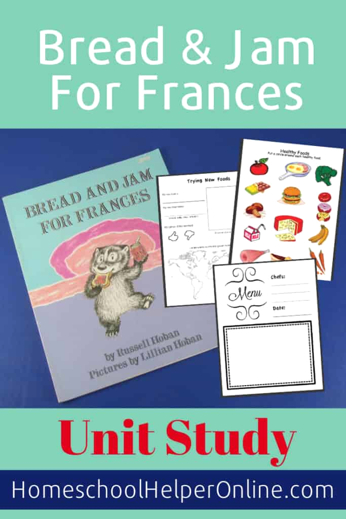 pre school unit study based on bread and jam for frances
